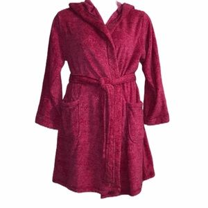 Hooded tie front Robe Ultra Soft Large XL NWT